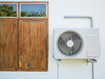 Air conditioning compressor. Outdoor unit Royalty Free Stock Photo