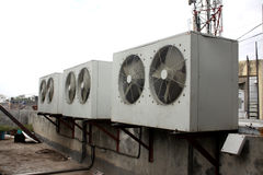 Air Conditioning Condensors Stock Photo