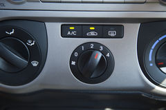 Car Air Conditioning Control Panel Stock Images