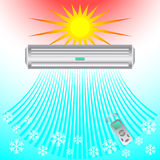 Air conditioning, cooling breeze blows cold. Abstract business design banner template ( ventilation and conditioning system) air Stock Photography
