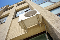 Air conditioning device on the building wall Royalty Free Stock Photo