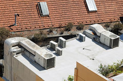 Air conditioning ducts Royalty Free Stock Photo