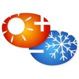 Air conditioning emblem Stock Photos