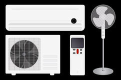 Air conditioning and fan Stock Photography