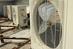 Air conditioning and fan Stock Photo