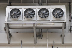 Air Conditioning Fans. A photo taken on some industrial air conditioning fan coil units Royalty Free Stock Photo