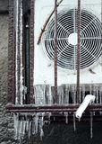 Air Conditioning frozen in ice Royalty Free Stock Photos