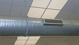 Air conditioning and heating with stainless nozzle Stock Photo