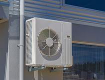 Air conditioning and heating unit for a residential house Royalty Free Stock Photo