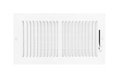 Air conditioning and heating vent on white Royalty Free Stock Photo