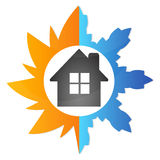 Air conditioning house Stock Image