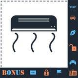 Air conditioning icon flat stock illustration