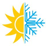 Air conditioning  icon - summer winter Royalty Free Stock Photo