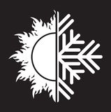 Air conditioning  icon - summer winter Royalty Free Stock Image