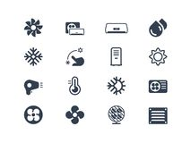Air Conditioning Icons Stock Photography