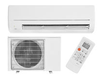 Air conditioning. Isolated on white Stock Photography
