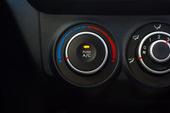 Air conditioning knob in the car. The panel of adjustment of the conditioner of the car Stock Photo