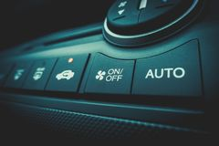 Air Conditioning on off Power switch of a Car air conditioning s. Air Conditioning on off Power switch of a Car royalty free stock images