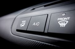 Air Conditioning on off switch of a Car air conditioning s. Air Conditioning on off Power switch of a Car air conditioning system royalty free stock photo