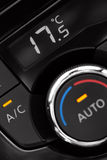 Air conditioning panel inside a car Stock Photography