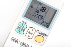 Air conditioning remote controller Royalty Free Stock Photo