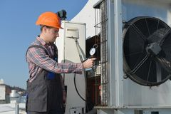 Air Conditioning Repair Stock Images