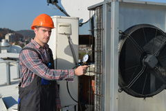 Air Conditioning Repair Royalty Free Stock Images