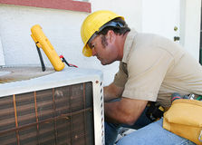 Air Conditioning Repairman 4 Stock Photos