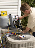 Air Conditioning Repairman Stock Photos