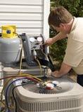 Air Conditioning Repairman Stock Photos