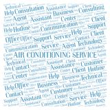Air Conditioning Service word cloud. Wordcloud made with text only stock photo