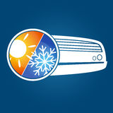 Air conditioning silhouette Royalty Free Stock Photo