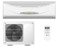 Air conditioning split system  illustration Royalty Free Stock Photo