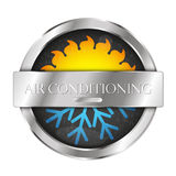 Air conditioning sun and snowflake Royalty Free Stock Photo