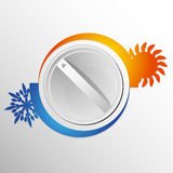 Air conditioning switch Royalty Free Stock Images