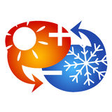 Air conditioning symbol Royalty Free Stock Image