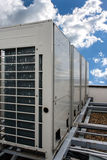 Air conditioning system. Assembled on top of a building Royalty Free Stock Photography