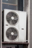 Air conditioning system. Assembled on top of a building Royalty Free Stock Image