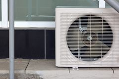 Air conditioning system assembled on top of a building.. Stock Images