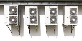 Air conditioning system assembled on a wall Royalty Free Stock Photos