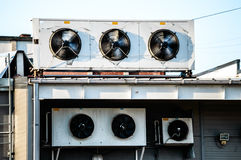 Air conditioning system on motion Stock Image