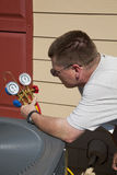 Air conditioning technician  Stock Images