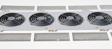 Air conditioning unit on bus roof Royalty Free Stock Photo