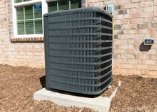 Air Conditioning Unit. House Air Conditioning Unit Outside A Home Royalty Free Stock Photography