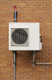 Air conditioning unit outside in Quebec Royalty Free Stock Image