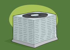 Air Conditioning Unit Over Green Stock Photo