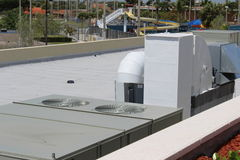 Air Conditioning Unit. A picture of a Air Conditioning Unit on a roof royalty free stock images