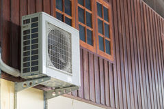 Air conditioning units installed outside the house Royalty Free Stock Photo