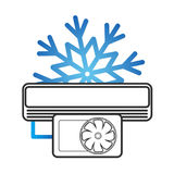 Air conditioning vector illustration Royalty Free Stock Photo