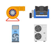 Air conditioning vector illustration. Stock Images